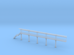 N Scale Tank Car loading Platform 5 End Section in Smooth Fine Detail Plastic