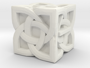 Celtic Fudge / Fate Dice dF - Solid Centre for Pla in White Natural Versatile Plastic