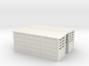 abris quais beton SNCB MNSB TT 2 pieces in White Natural Versatile Plastic: 1:120 - TT