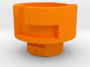 Nerf Muzzle to Airsoft Barrel Adapter (14mm-) in Orange Processed Versatile Plastic