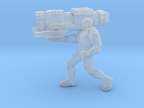 Ironman with Proton Cannon 1/60 miniature game rpg in Smooth Fine Detail Plastic