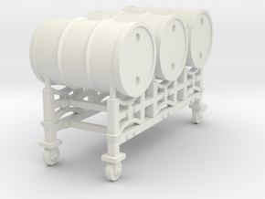 Drum racking stand - 1:50 in White Natural Versatile Plastic
