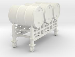 Drum racking stand - 1:50 in White Natural Versatile Plastic