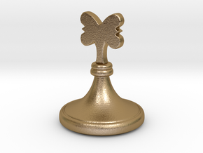 Wazir-Rider (Rook) - [1,0] Craxton in Polished Gold Steel