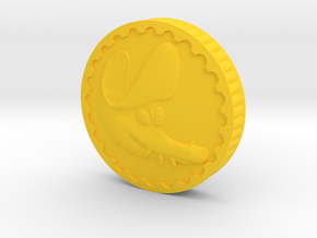 Crocodile Dubloon (A+B) in Yellow Processed Versatile Plastic