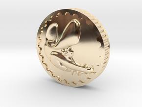 Crocodile Dubloon (A+B) in 14k Gold Plated Brass