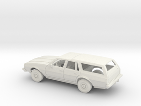 1/25 1977-78 Chevrolet Impala Station Wagon Kit in White Natural Versatile Plastic