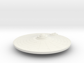 1000 TMP saucer part in White Natural Versatile Plastic