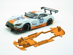 PSSX00101 Chassis for Scalextric Mercedes AM GT3 in White Natural Versatile Plastic