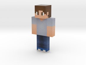BlueGrayShirt Done | Minecraft toy in Natural Full Color Sandstone
