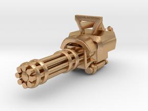 Miniature mini Gun  in Natural Bronze