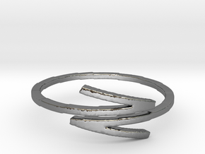 Z Ring Size 7 in Polished Silver: 7 / 54