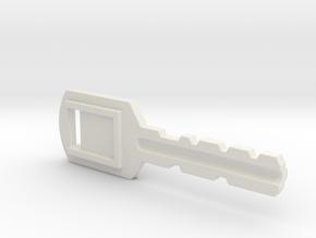 Resident Evil Backdoor Key in White Natural Versatile Plastic