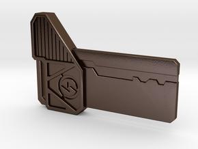 Resident Evil Power Room Key in Polished Bronze Steel