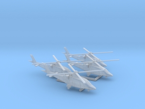 011H A109 1/500 set of 4 in Smooth Fine Detail Plastic