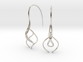 Ava earring pair in Rhodium Plated Brass