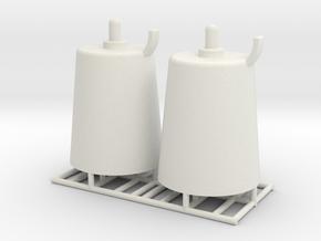 Pedestal roller - 1:50 - 2X in White Natural Versatile Plastic