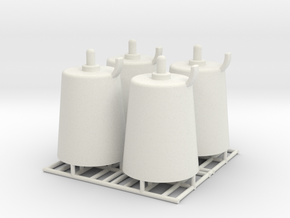 Pedestal roller - 1:50 - 4X in White Natural Versatile Plastic