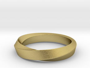 iRiffle Mobius Narrow Ring I(Size 13) in Natural Brass