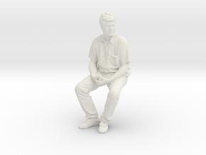 Printle C Homme 1866 - 1/28 - wob in White Natural Versatile Plastic