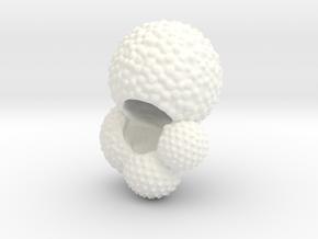 Globigerina Foraminiferan Model 4cm  in White Processed Versatile Plastic