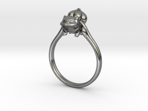 Bulbasaur Ring in Polished Silver