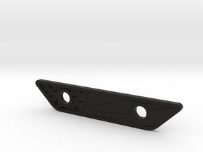 flat footpeg plate - waving flag in Black Natural Versatile Plastic
