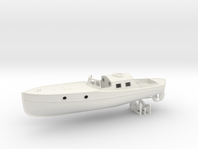 1/56 DKM Boat 9m Captain's Gig in White Natural Versatile Plastic