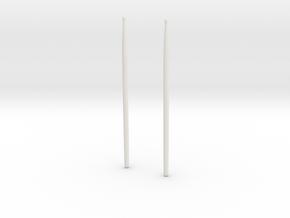drum sticks.obj in White Natural Versatile Plastic