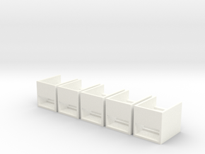 N Scale 5x Subway Stairs H12.5 in White Processed Versatile Plastic
