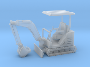 Mini-Excavator 1-87 HO Scale in Smooth Fine Detail Plastic