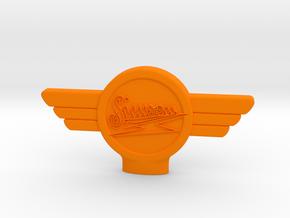 Zuendschluessel_Simson_Loch in Orange Processed Versatile Plastic
