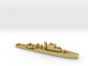 HMS Grimsby 1:1800 WW2 escort sloop in Natural Brass