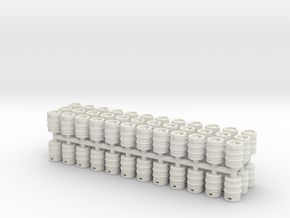 Beer Barrel. 1:72 Scale  in White Natural Versatile Plastic