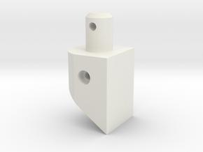 Battery Holder/ body post  Extension for TLR scte  in White Natural Versatile Plastic