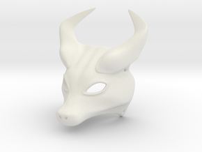 Horned Mask in White Natural Versatile Plastic