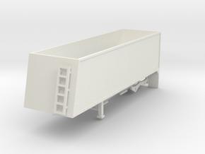 000658 B trailer HO Grain Trailer in White Natural Versatile Plastic: 1:87 - HO