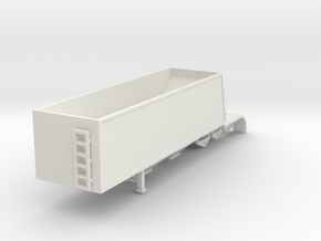 000657A trailer Grain Trailer HO in White Natural Versatile Plastic: 1:87 - HO