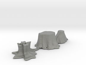 O Scale stumps 2 in Gray PA12