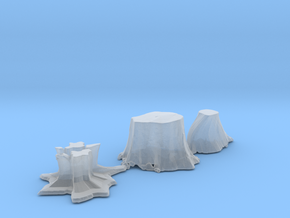 S Scale stumps 2 in Smooth Fine Detail Plastic
