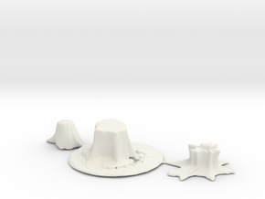 HO Scale stumps 2 in White Natural Versatile Plastic