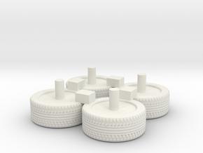 1/87 2018+ Tahoe Wheels in White Natural Versatile Plastic
