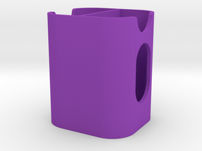 Canon LPE6 Dual Battery Holder V1 in Purple Processed Versatile Plastic