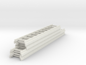 1/87 Stacked ladder load in White Natural Versatile Plastic