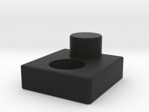 Megatron Fusion Cannon Adapter for Modified Cannon in Black Natural Versatile Plastic