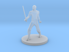 Human Fighter in Smooth Fine Detail Plastic