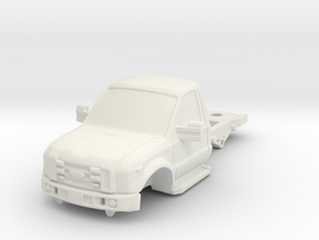 1/87 F450 Medium Chassis in White Natural Versatile Plastic