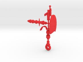 Welch Weapon Set in Red Processed Versatile Plastic