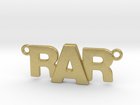Monogram Pendant RRA in Natural Brass