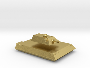 Tiger Heavy Grav Tank 15mm in Natural Brass